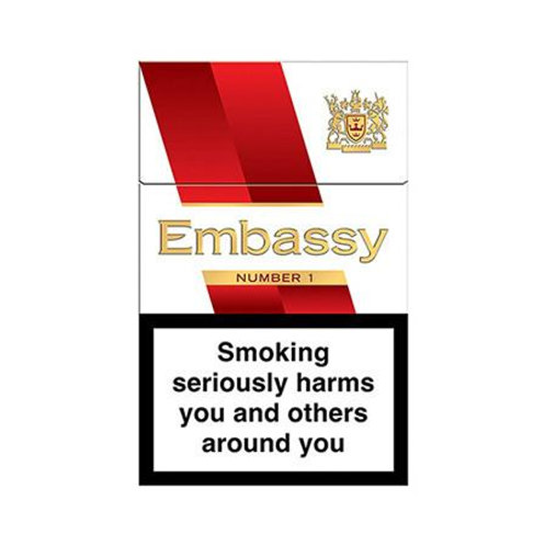 132. Embassy No.1 Red King Size, 20 per pack