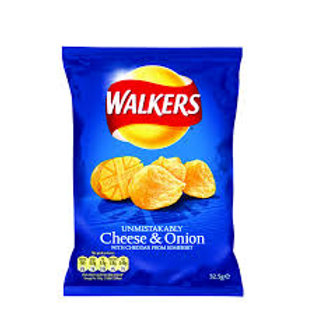 33. Walkers Cheese & Onion