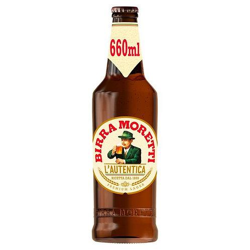 324. Birra Moretti Premium Lager Beer Bottle