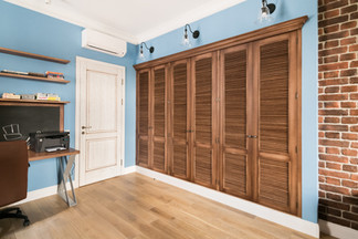 Built-in wardrobe in the kidsroom by Albina Alieva