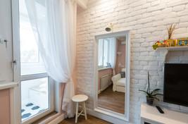brick wall in the living room by Albina Alieva