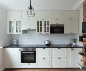 white ikea kitchen design by Albina Alieva