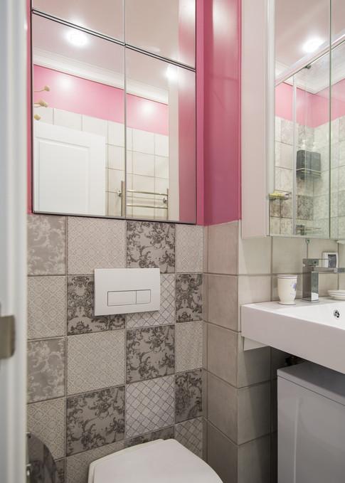 built-ib cabinets above the toilet by Albina Alieva