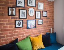 brick wall in the kitchen by Albina Alieva