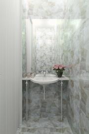 powder room in a duplex design by Albina Alieva