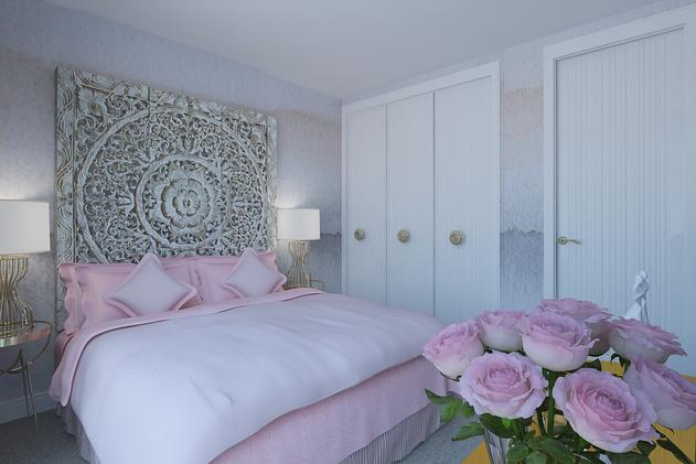 master bedroom design in a duplex by Albina Alieva