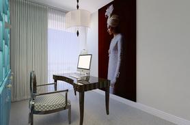 home office design in a duplex by Albina Alieva