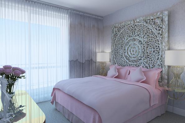 artistic bedroom design by Albina Alieva