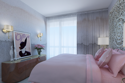 sophisticated bedroom design for a young woman by Albina Alieva
