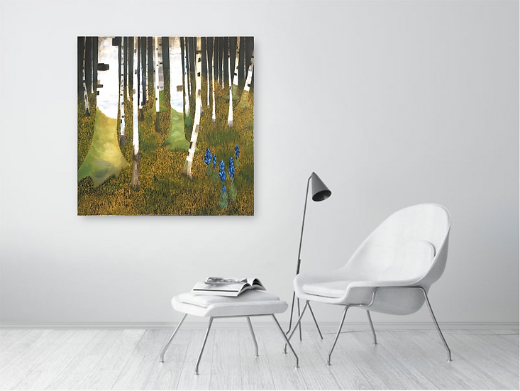 """A Forest, 39"""" x 39""""."""