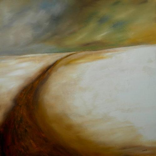 Path Through Winter Fields