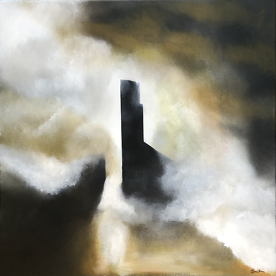 "Monument, 20"" x 20"", oil on canvas"