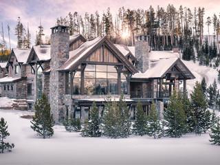 Yellowstone Club Mansion at Sunrise