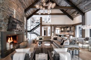 Great Room in a Custom Yellowstone Club Residence
