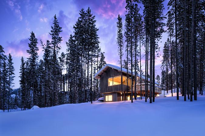 Mountain Cabin Sunrise