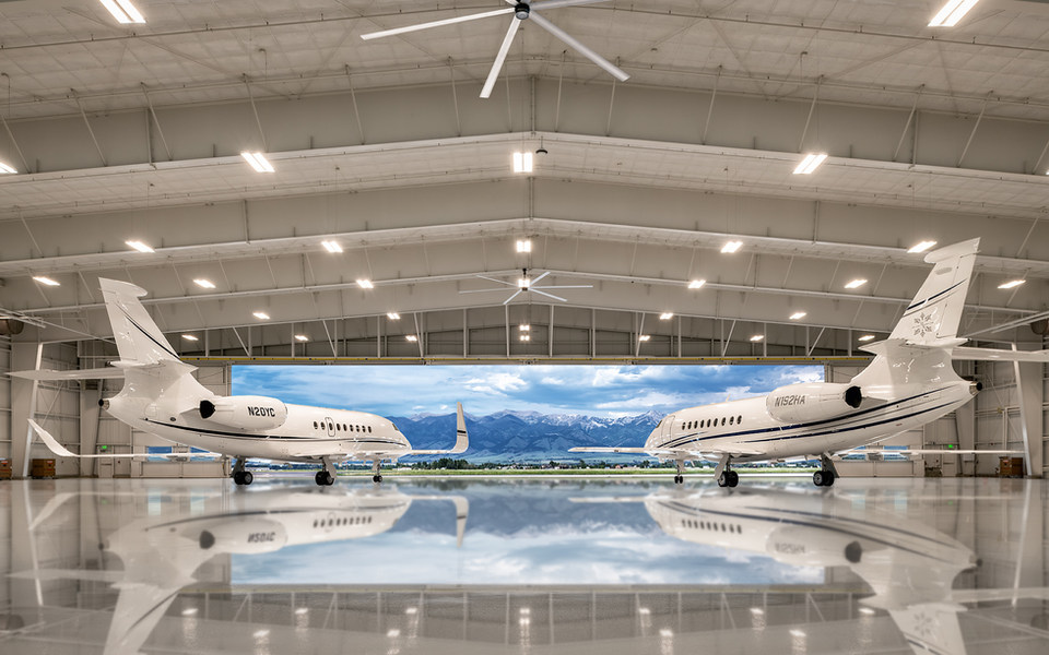 YC Hangars with Jets & Chopper - Low Res