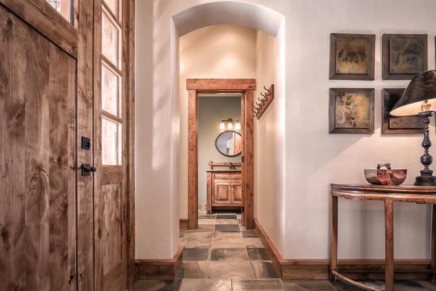 Entryway and Powder Room