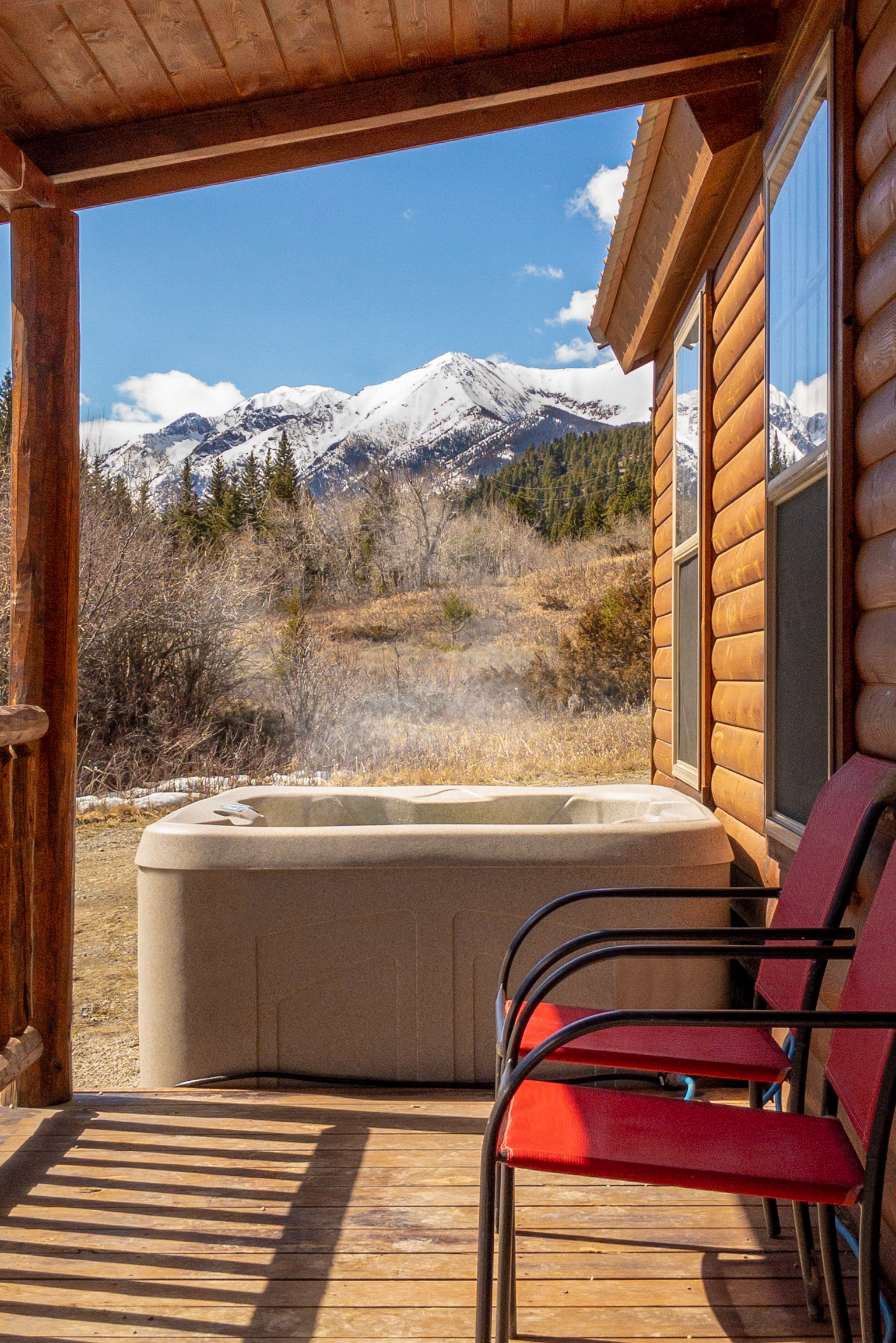 All our cabins have hot tubs