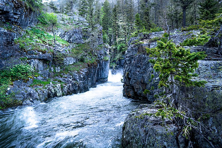 Big Timber Creek Falls near Montana Cabin Rentals