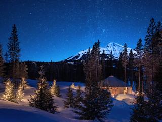 Yurt Beneath Lone Mountain