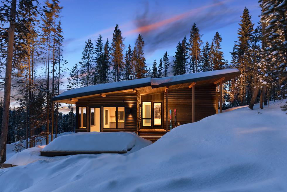 """Mountain Cabin Getaway - Image Featured as Cover image of December 2018 """"Builder"""" Magazine"""