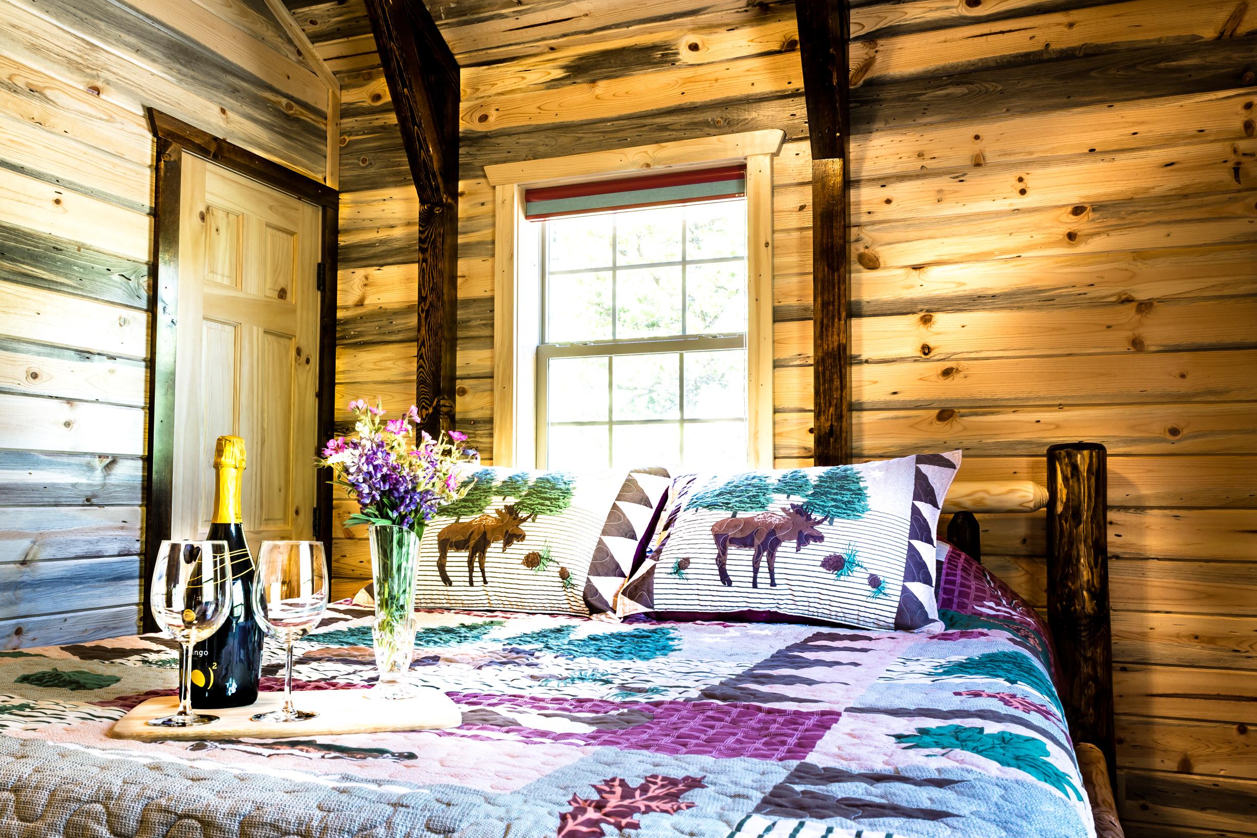 Fisher Cabin Master Bedroom
