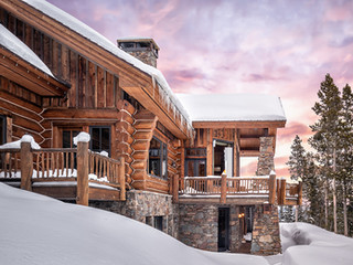 Dawn at a Yellowstone Club Residence