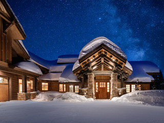The Milky Way Behind a Winter Wonderland Home