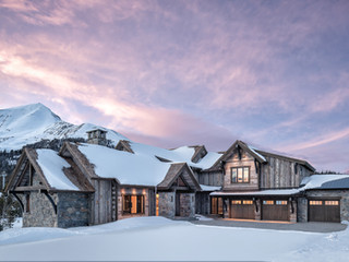 Dawn Rising Above a Yellowstone Club Residence