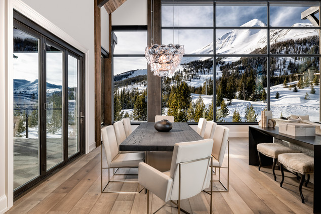 Dining Room Beneath Massive Views