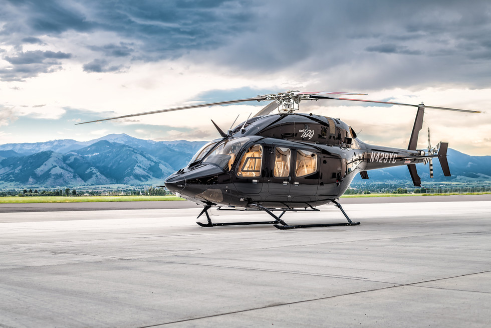 Bell 429 Helicopter Photo Shoot