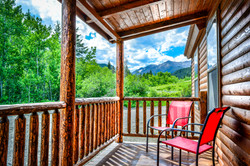 Fisher Cabin Covered Porch