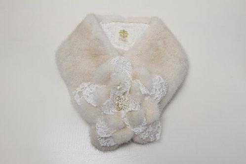 Mink Fur Scarf / Flower