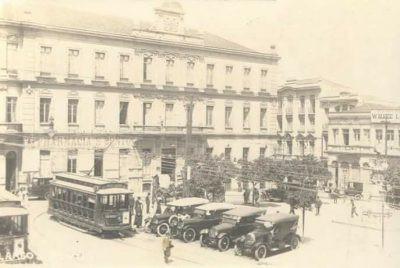 Edifício que serviu de sede da Portuguesa no largo de São Bento