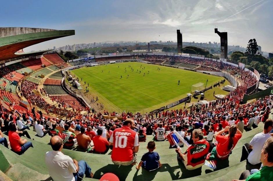 Estádio do Canindé antes da pandemia do Covid-19