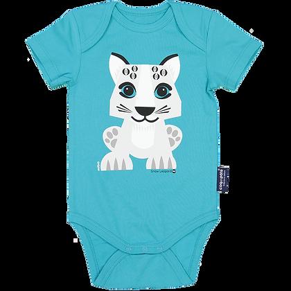 Snow Leopard Short Sleeve Bodysuit