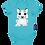 Thumbnail: Snow Leopard Short Sleeve Bodysuit