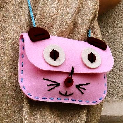 Pink Cat Bag -DIY