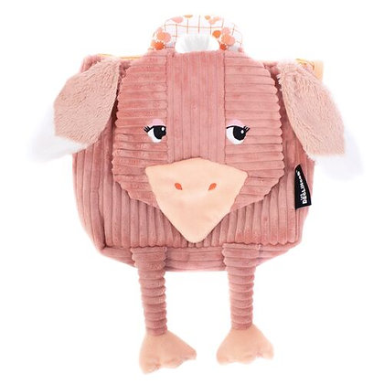 Pink Ostrich Backpack