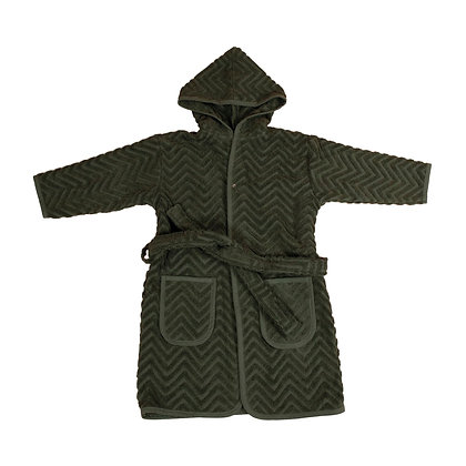 Bathrobe - Dark Green 3-4 years