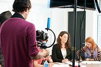 Actress Gigi Burgdorf on the set of Writing a Film for Leisa Rei