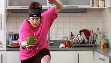 Gigi Burgdorf makes a ninja pose in an ad for Sugru
