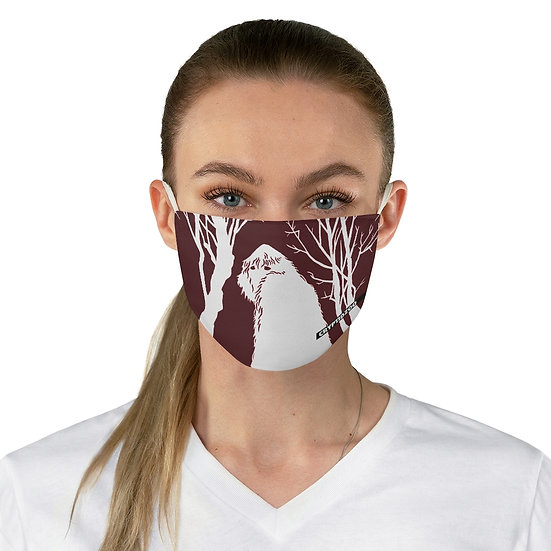 Yeti in RED Fabric Face Mask