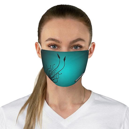 Kraken on an Aqua Fabric Face Mask
