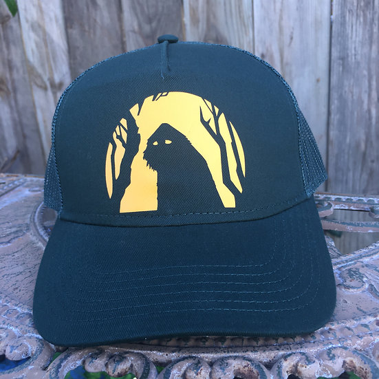 Sasquatch Moon 5 Panel Low Profile Mesh Back Trucker Hat