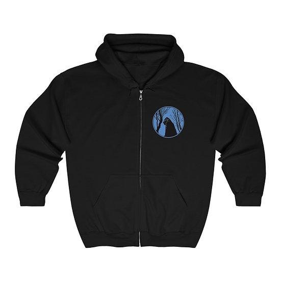 Yeti under a Himalayan Moon Unisex Heavy Blend Full Zip Hooded Sweatshirt