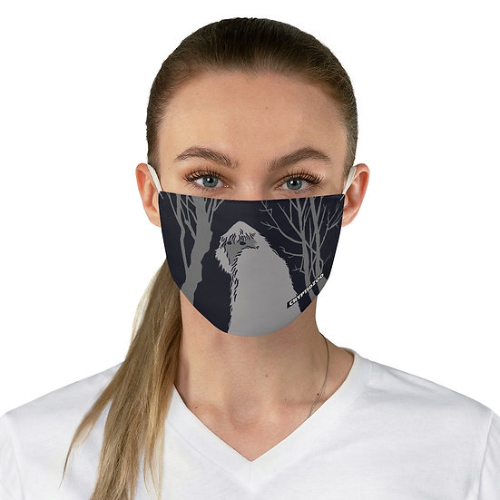 Gray Yeti on a Navy Fabric Face Mask
