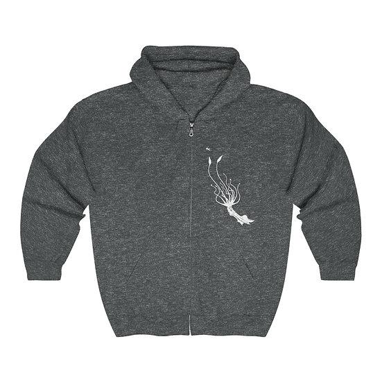 The Kraken Rises by Cryptidzoo Unisex Heavy Blend Full Zip Hooded Sweatshirt