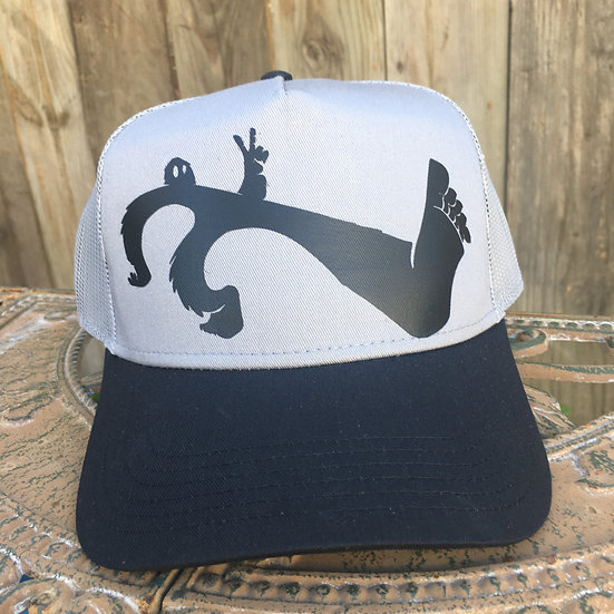 Keep on Squatchin' on a 5 Panel Mid Profile Mesh Back Trucker Hat