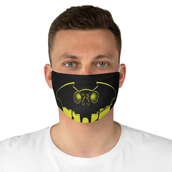 The Moth Man on a Fabric Face Mask